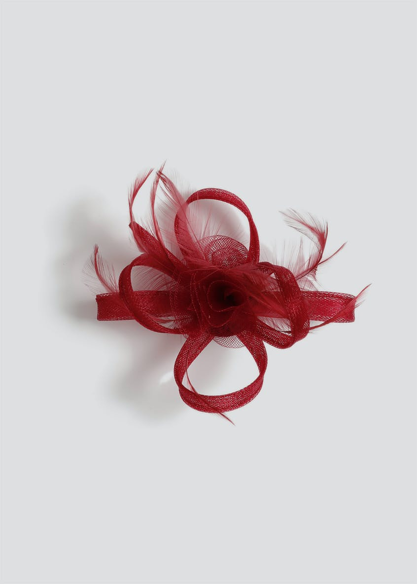 Centre Rose Loop Fascinator Clip
