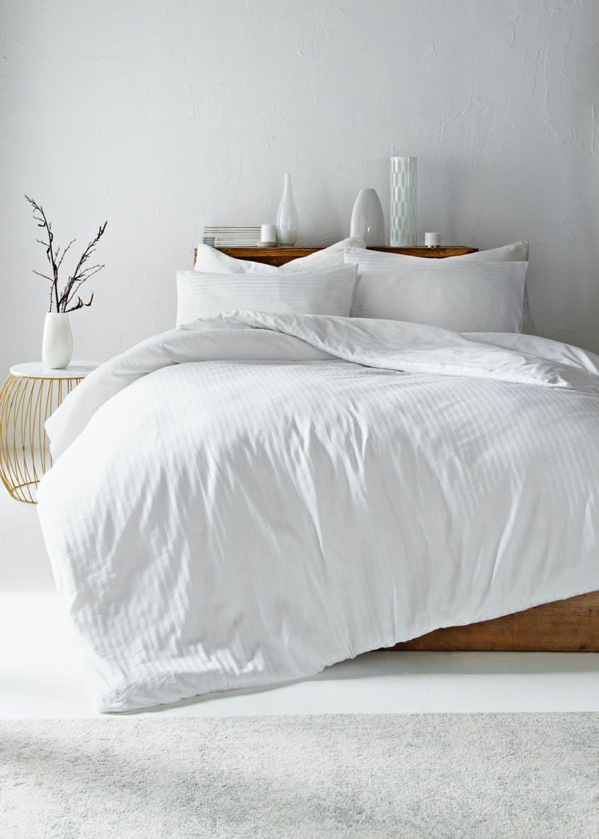 100% Cotton Satin Stripe Duvet Cover