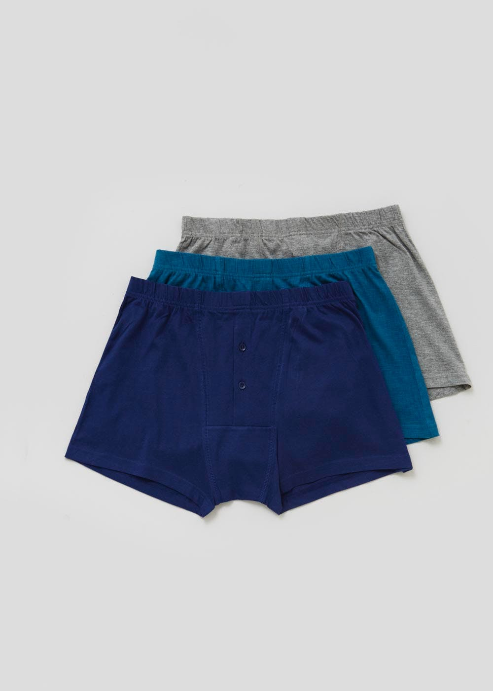 3 Pack Jersey Boxers – Blue