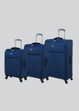 IT Luggage Embossed Soft Shell Suitcase