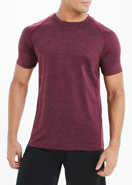 Souluxe Burgundy Basic Gym T-Shirt