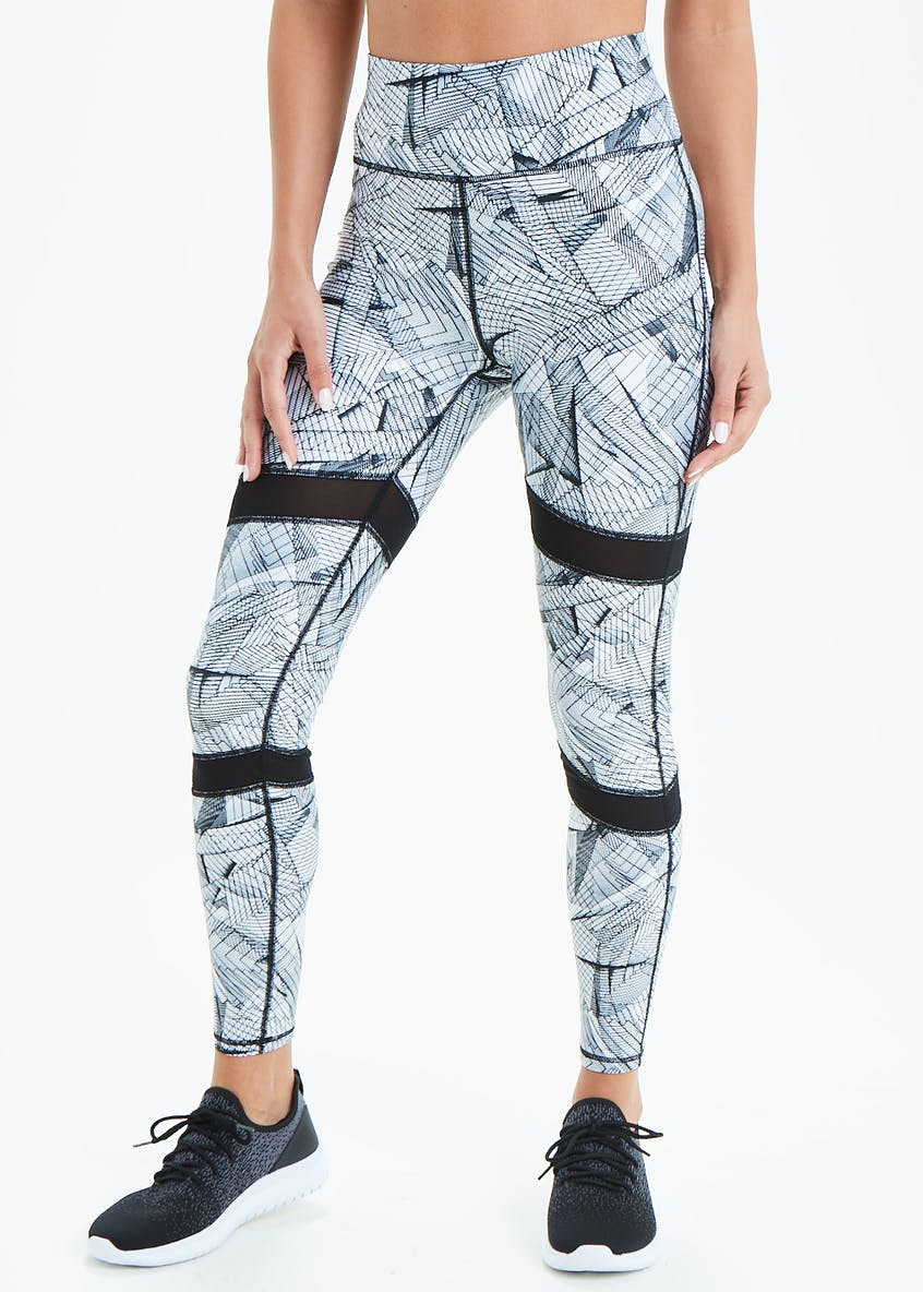 Souluxe Cage Print Gym Leggings