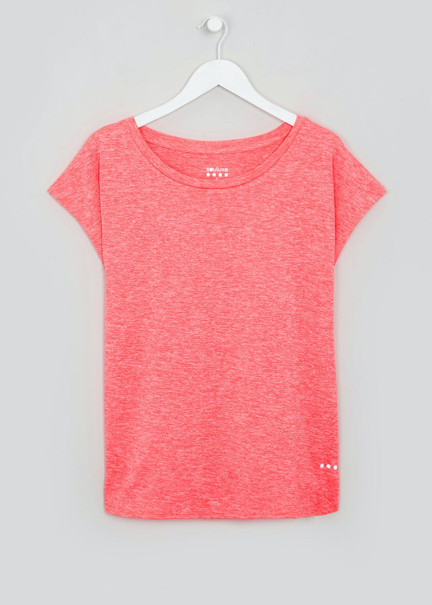 Souluxe Pink Slouch Gym T-Shirt