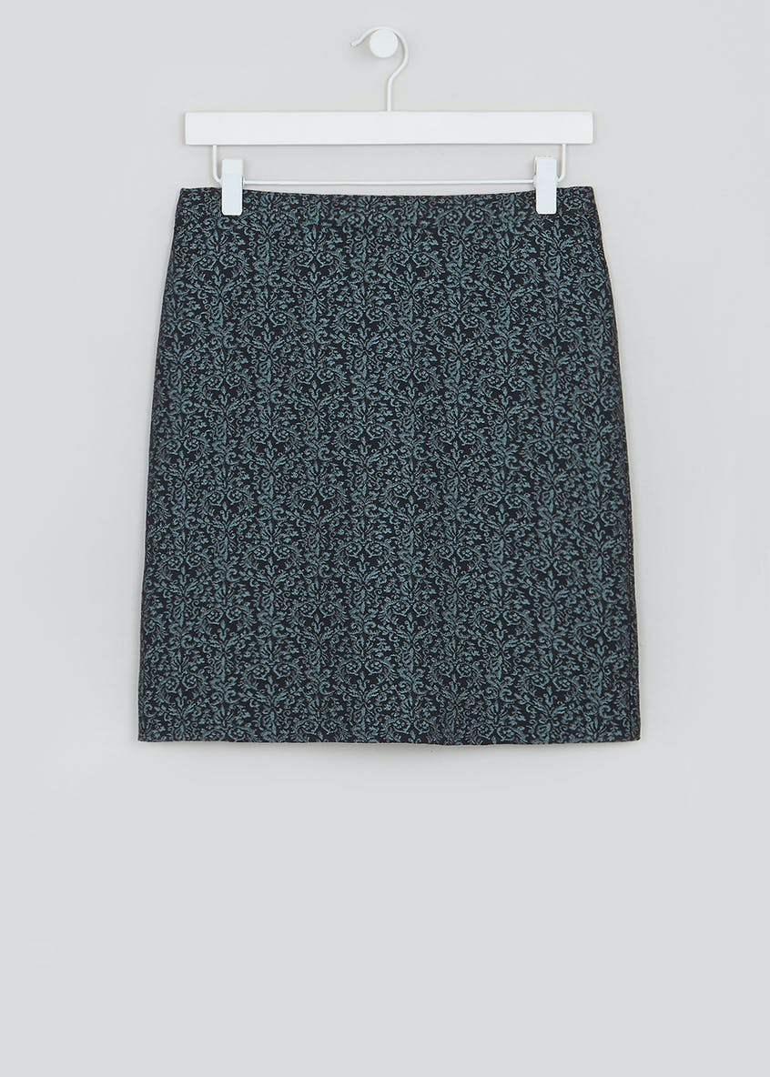 Jacquard A-Line Mini Skirt