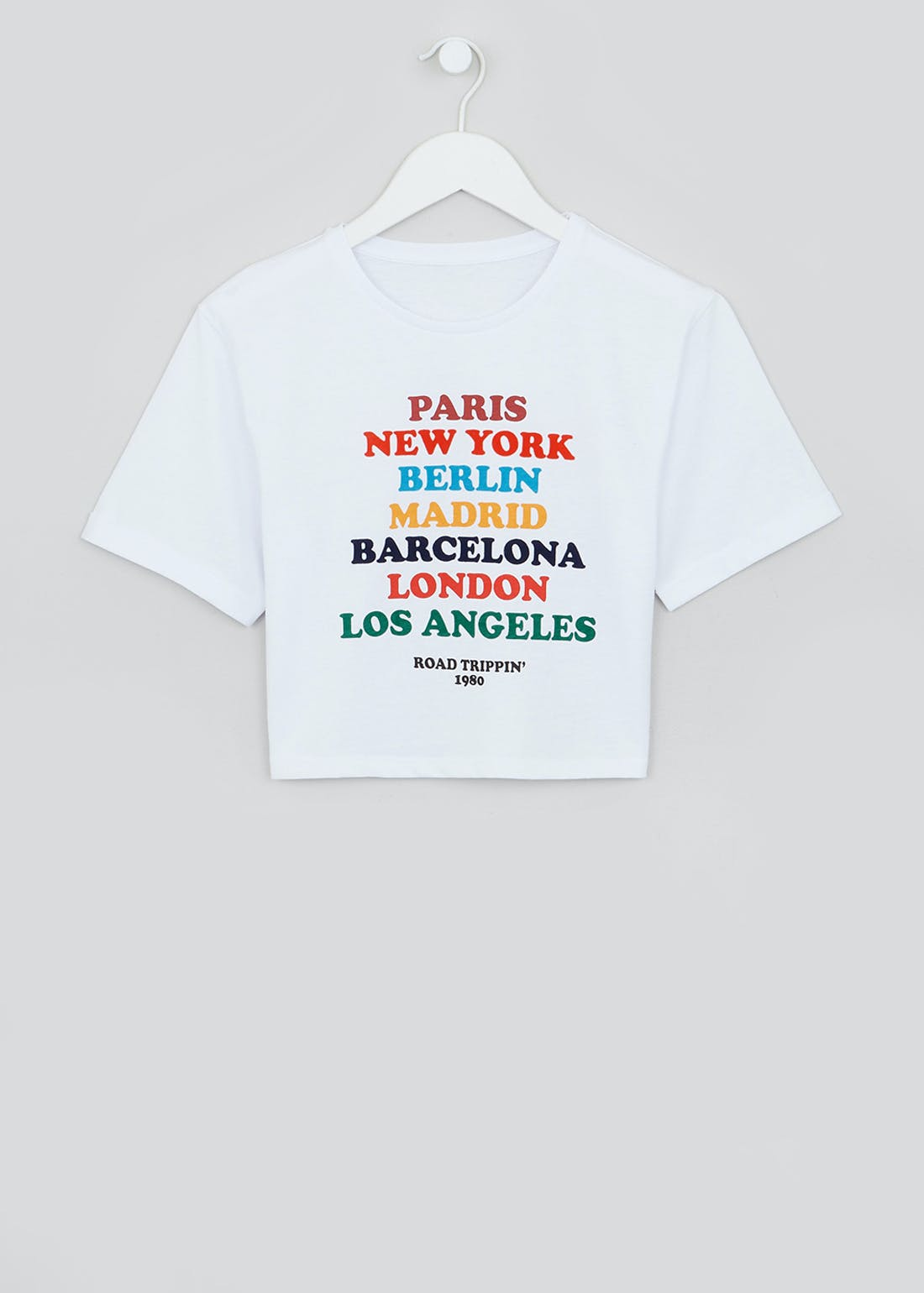 Girls Candy Couture Cities Cropped T-Shirt (9-16yrs)