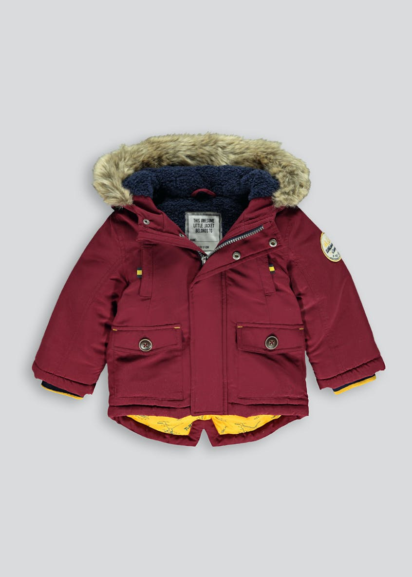 Boys Berry Shower Resistant Parka Coat (9mths-6yrs)