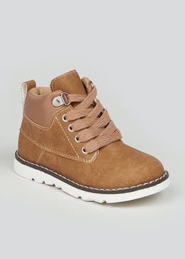 Boys Tan Lace Up Fashion Boots (Younger 4-12)