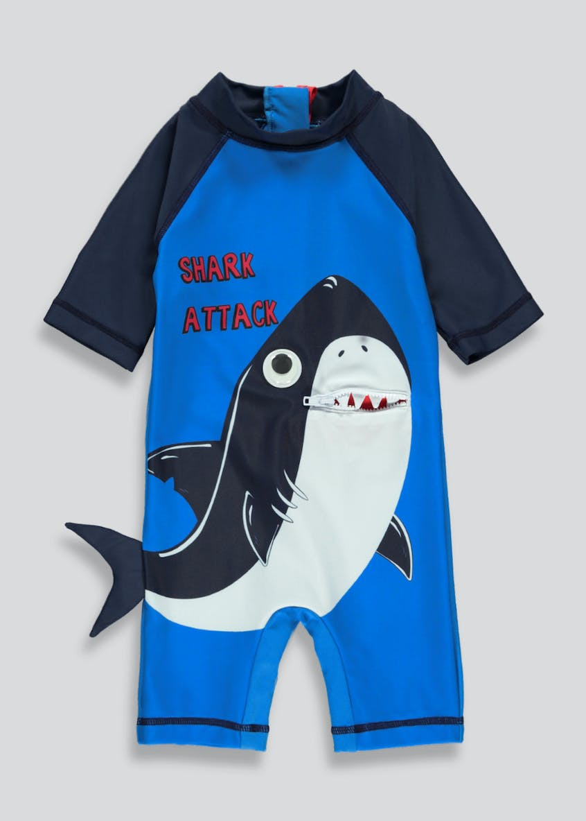 Kids 3D Shark Surf Suit (3mths-5yrs)