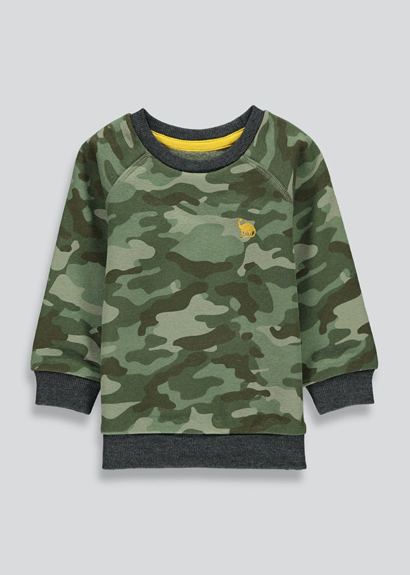 Boys Camo Print Sweatshirt (9mths-6yrs)