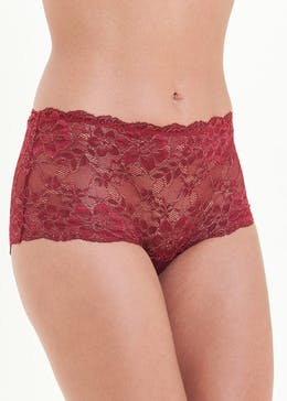3 Pack Sparkle Lace Midi Knickers