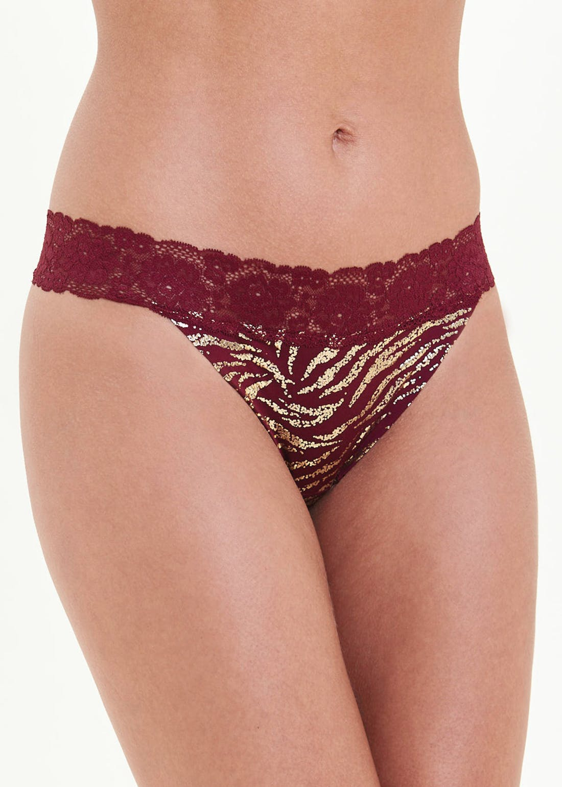 3 Pack Lace Trim Thongs