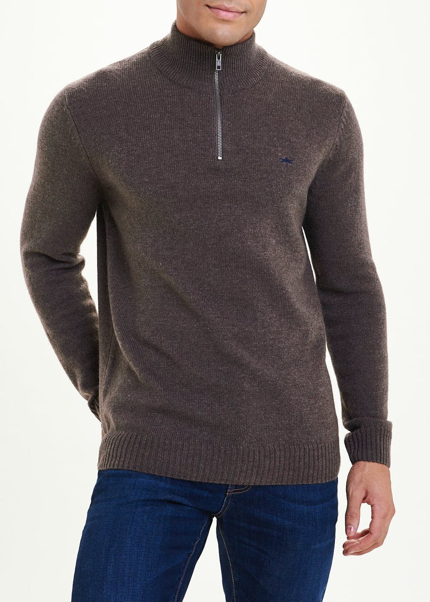 Lambswool Half Zip Jumper