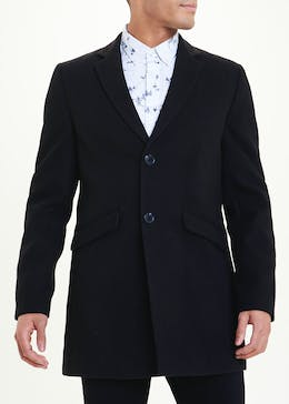 Big & Tall Black Blazer Overcoat