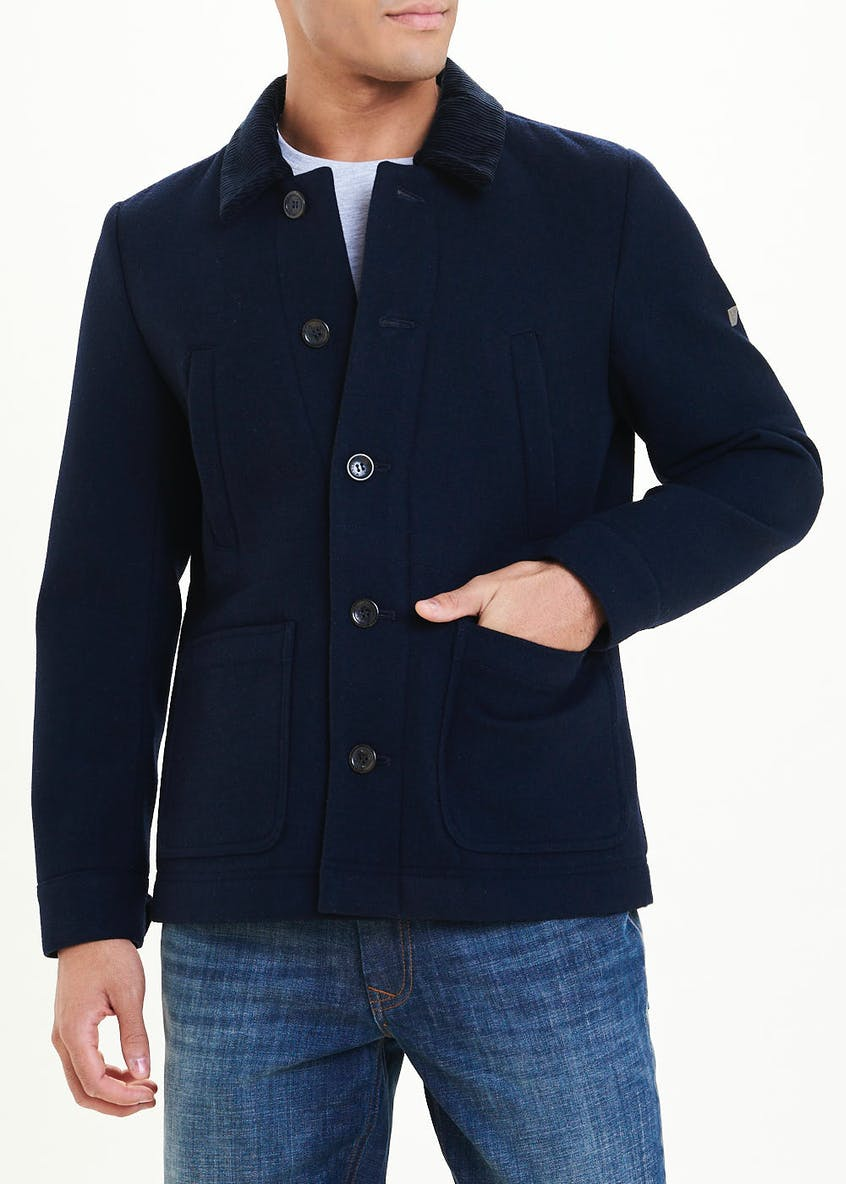 Morley Navy Wool Jacket