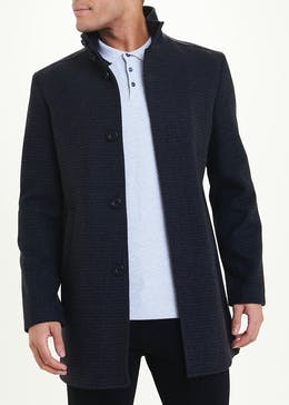 Charcoal Wool Blend Formal Coat