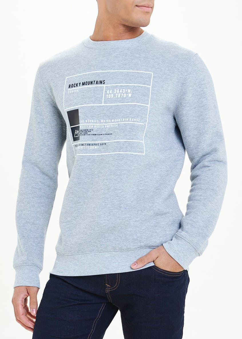 Rocky Mountains Square Print Jumper