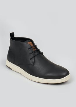 Black Contrast Sole Desert Boot