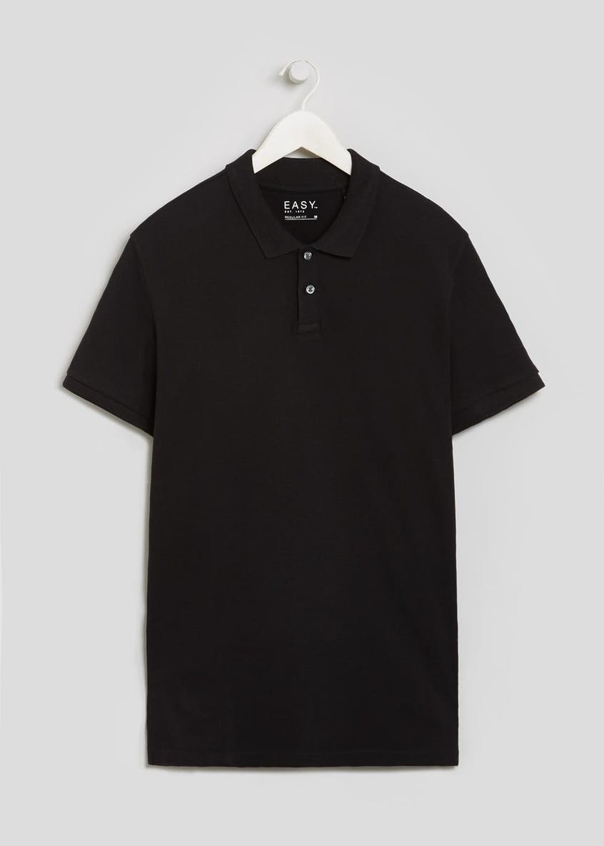 Basic Short Sleeve Pique Polo Shirt