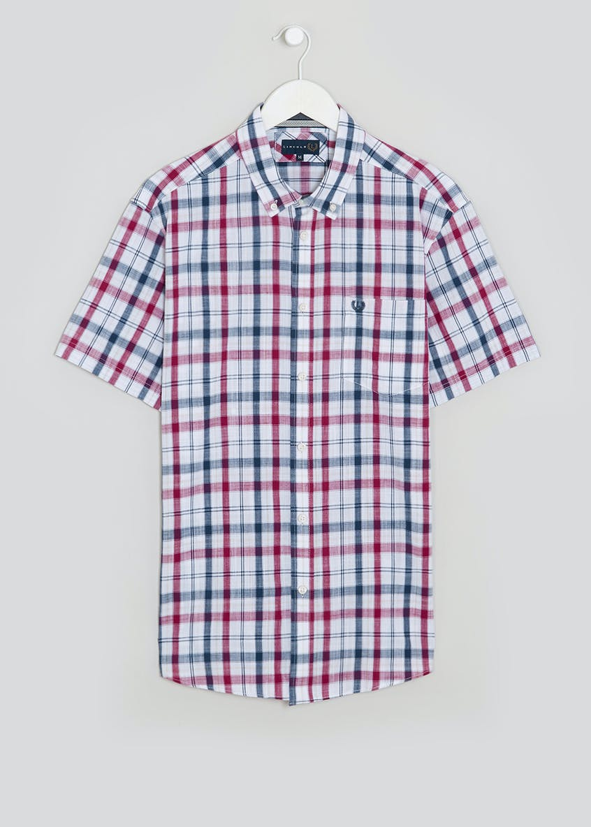 Lincoln Short Sleeve Slub Check Shirt