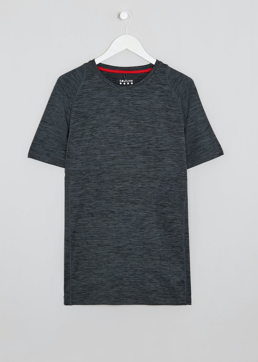 Souluxe Grey Basic Gym T-Shirt