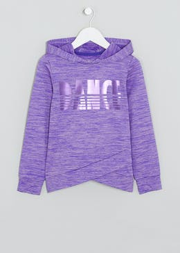 Girls Souluxe Purple Dance Slogan Hoodie (4-13yrs)