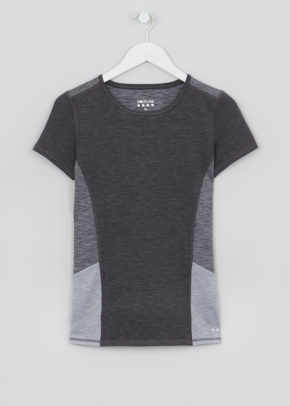 Souluxe Grey Panelled Gym T-Shirt