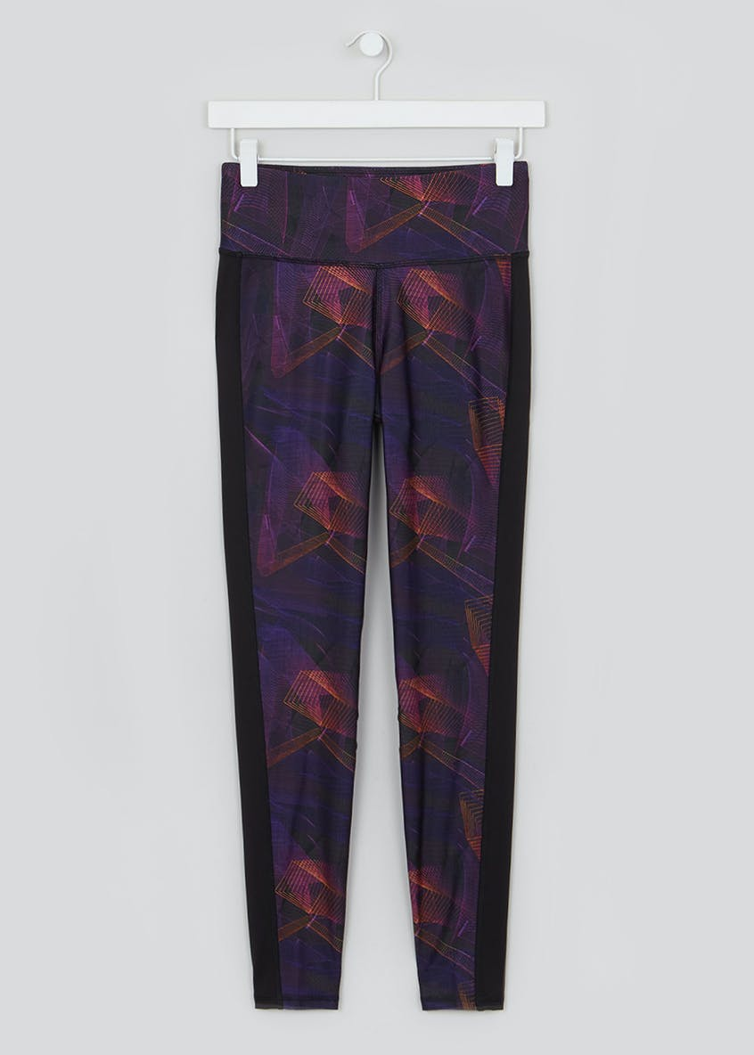 Souluxe Purple Skycage Print Gym Leggings