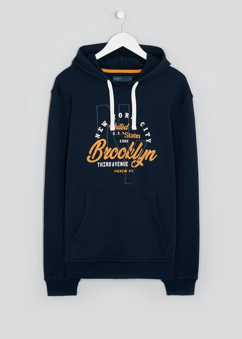 Brooklyn Print Pull On Hoodie