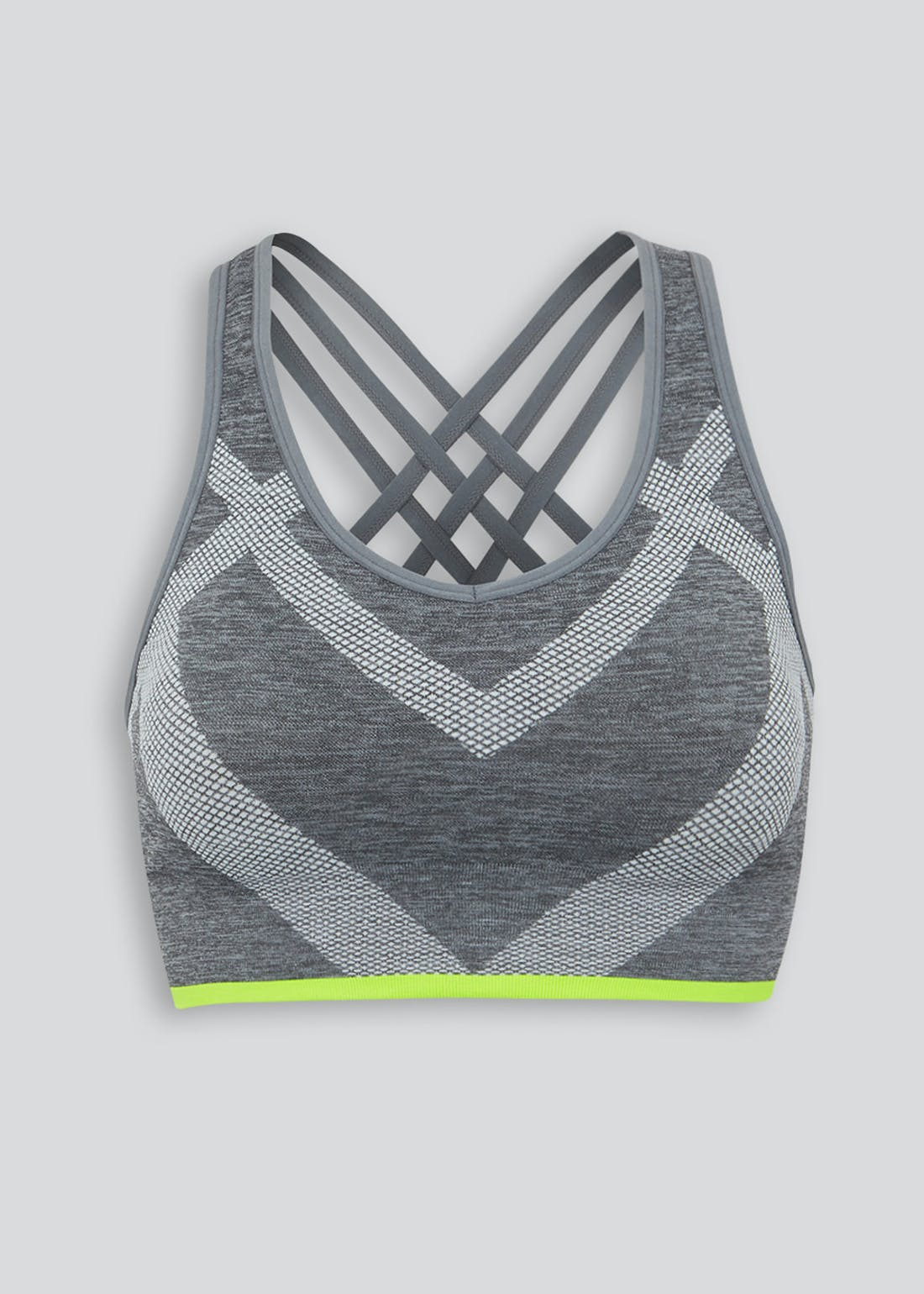 Souluxe Grey Seamless Sports Bra
