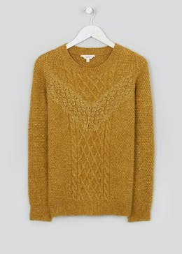 Falmer Chevron Lace Cable Jumper