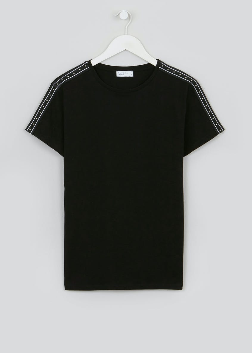 Stud Sleeve Co-Ord T-Shirt