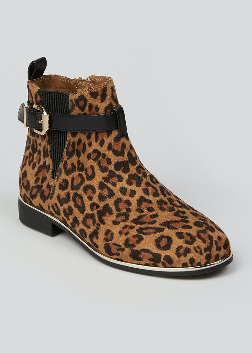 Girls Leopard Print Chelsea Boots (Younger 10-Older 5)