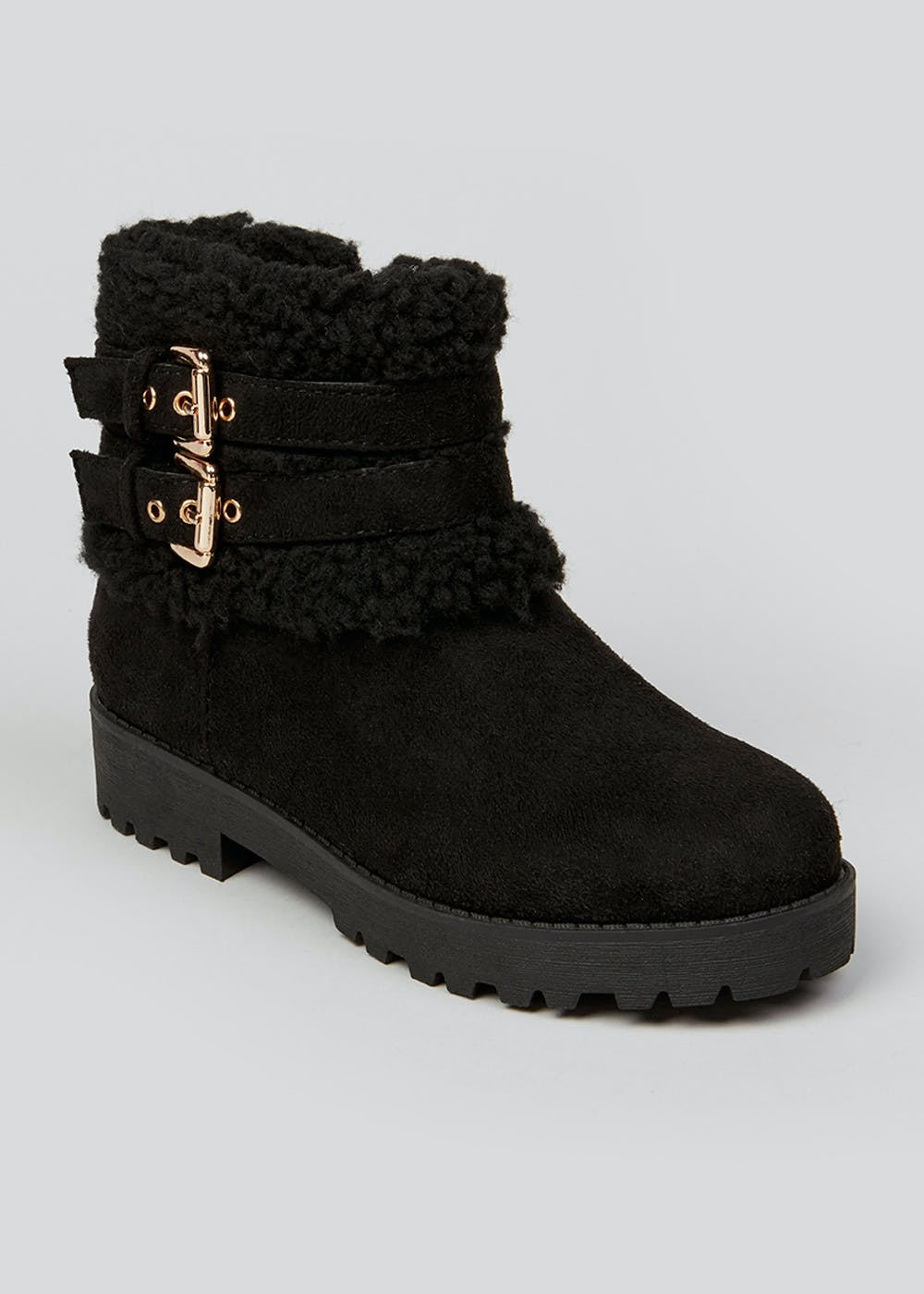 Girls Black Ankle Boots (Younger 10 Older 5) by Matalan