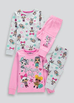 Kids L.O.L. Surprise 2 Pack Pyjamas (4-11yrs)