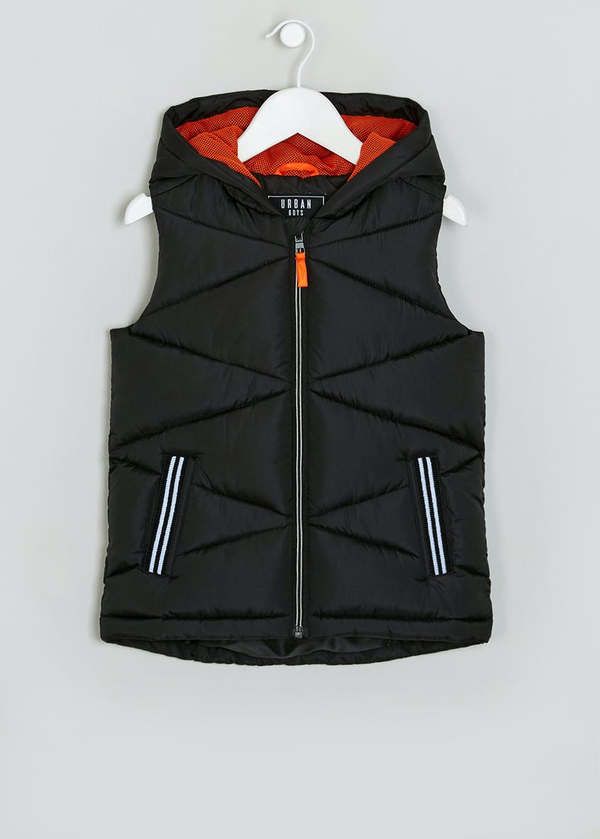 Boys Black Hooded Gilet (4-13yrs)