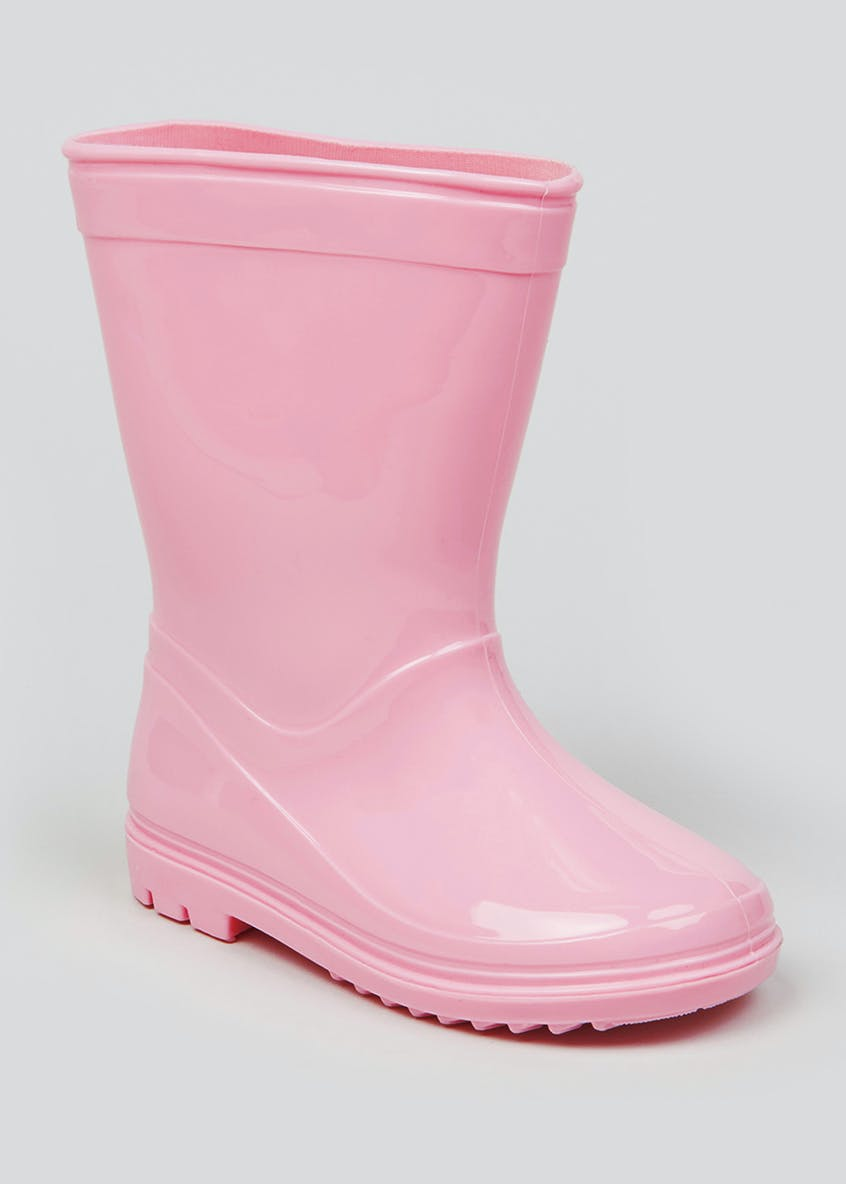 Girls Pink Wellies (Younger 4-9)