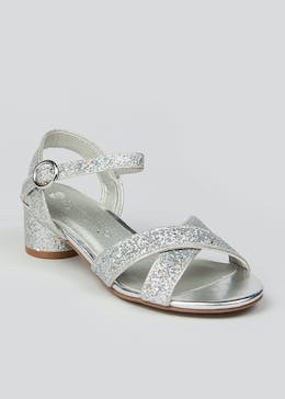Girls Silver Heel Sandals (Younger 13-Older 5)
