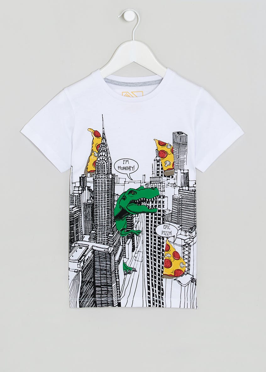 Boys New York Pizza Print T-Shirt (4-13yrs)