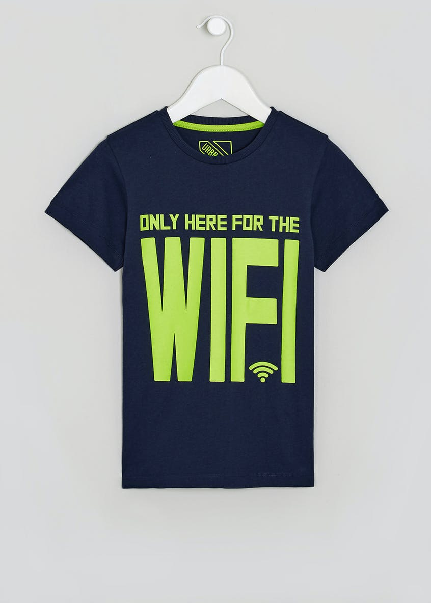 Boys WiFi Slogan T-Shirt (4-13yrs)
