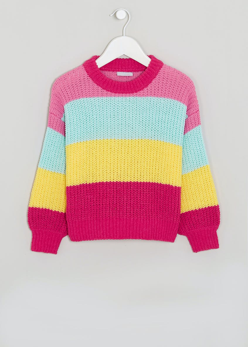Girls Chenille Stripe Jumper (4-13yrs)