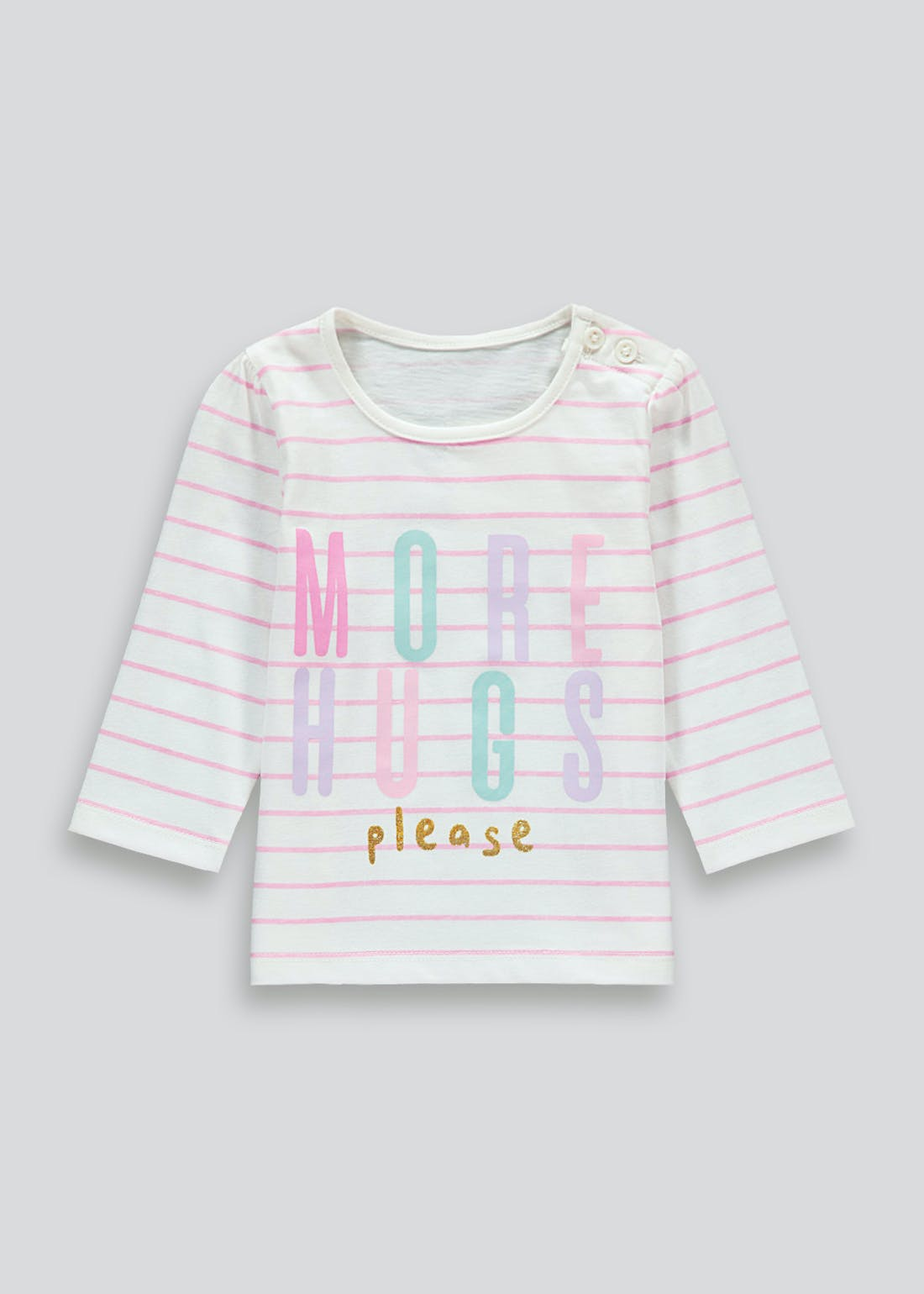 Unisex More Hugs Please T-Shirt (Tiny Baby-23mths)
