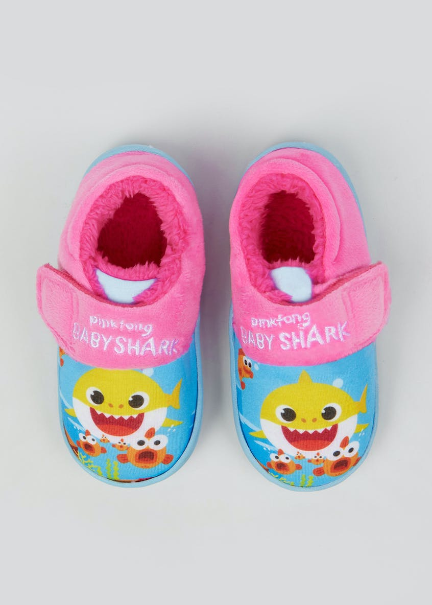 Kids Baby Shark Co-ord Slippers (Younger 4-9)