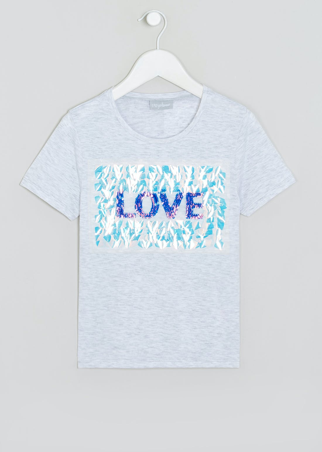 Girls Flippy Sequin Love T-Shirt (4-13yrs)
