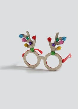 Girls Christmas Reindeer Antler Glasses