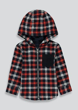 Boys Check Hooded Shirt (9mths-6yrs)