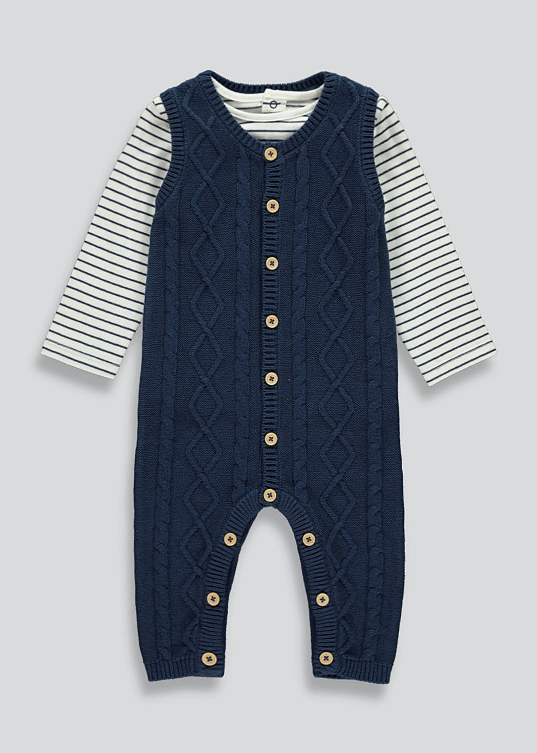 Unisex Knitted Romper And T-Shirt Set (Tiny Baby-18mths)