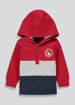 Boys Colour Block Jersey Hoodie (9mths-6yrs)
