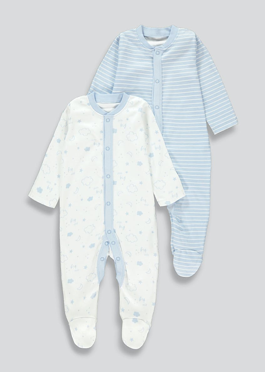 Boys 2 Pack Baby Grows (Tiny Baby-23mths)