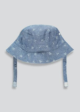 Boys Anchor Print Sun Hat (Newborn-23mths)