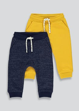 Boys 2 Pack Jogging Bottoms (9mths-6yrs)